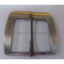 Adjustable Pin Belt Buckle in Brushed Nickel Plating (Belt buckle-013)