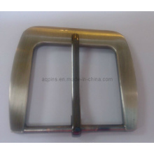 Fivela de cinto de pin ajustável em chapa de níquel escovado (fivela de cinto-013)