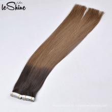 Grado 8A 9A 10A doble dibujado suave sin enredos sin derramar PU piel trama cinta extensión del pelo