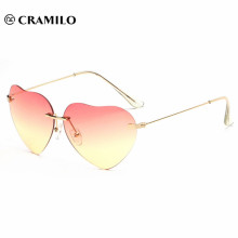 Cramilo heart shape brand fashion women sunglasses