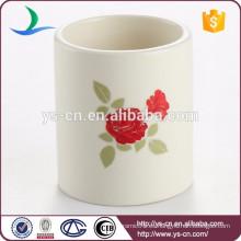Flor de diseño de la joyería de cerámica mini titular de la vela al por mayor