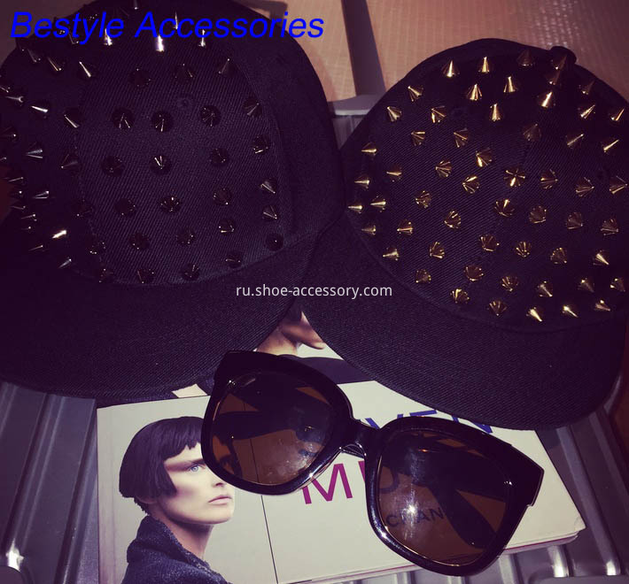 fashion hat metal spikes embellishments