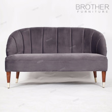 High back comfortable two-seat overstuffed living room chairs