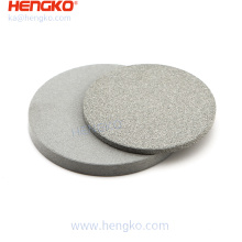 HENGKO 0.2-120 Microns Porous Sintered Disc Filter SUS 316L SS Stainless Steel Gas Liquid Solid Filtration Round or Customized
