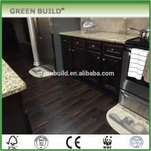 Black handscraped surface laminate wooden flooring
