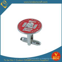 Мягкая эмаль металлическая запонка для рекламного подарка