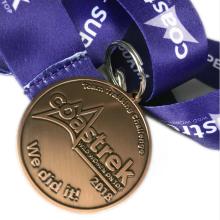 Médaille en alliage de zinc de qualité bronze antique en métal personnalisé