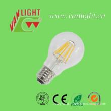 Lampe d'ampoule de filament de A60 6watt LED avec du CE, RoHS