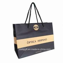 Bolso de papel personalizado de las compras de la impresión del logotipo / bolso de papel promocional del portador