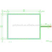 Panel táctil reistive de 5 alambres personalizado para la máquina del POS AMT