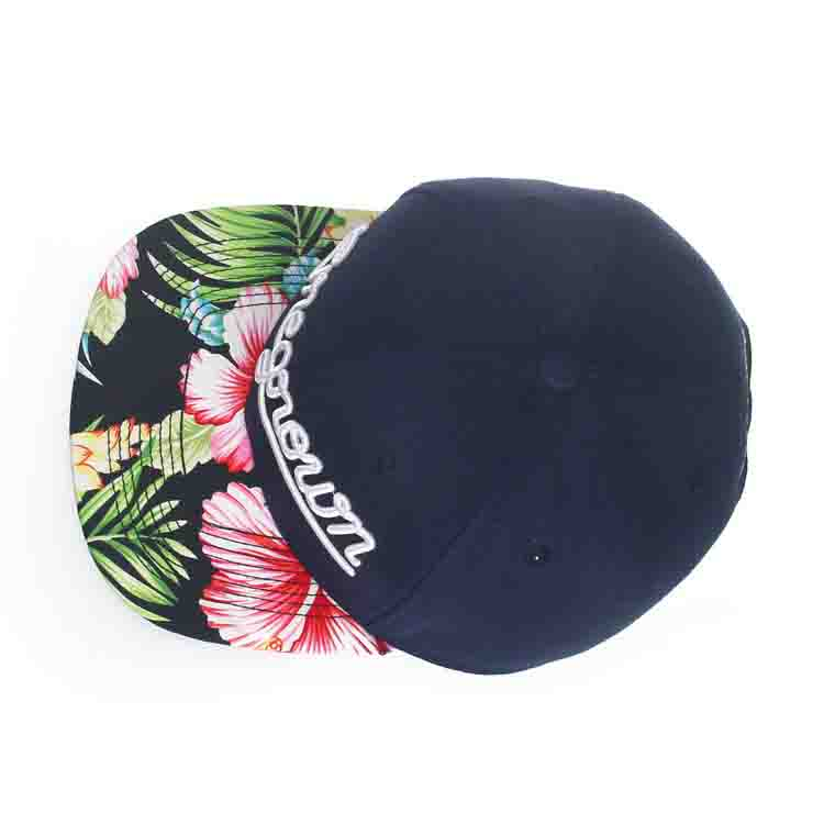 Hotsale Sublimation Printed Flat Floral Brim Custom 3