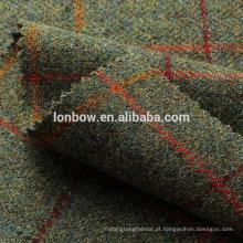 Tweed tecido de lã pura tecido de lã tweed estilo tecido xadrez padrão de costura para o casaco, calças de artesanato de capa pelo quintal