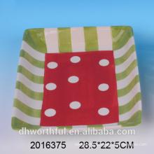 Горячий продавая slick тарелка доломита тарелки подарка таможни изготовленный на заказ, керамическая плита