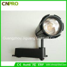 Blanco negro que sostiene la luz de la pista de la MAZORCA LED de 15W para el techo del proyector Downlight