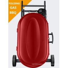 Uso de camping portátil parrilla de barbacoa de gas plegable