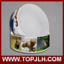 Logo Brand Print Ceramic Pet Bowl Sublimation