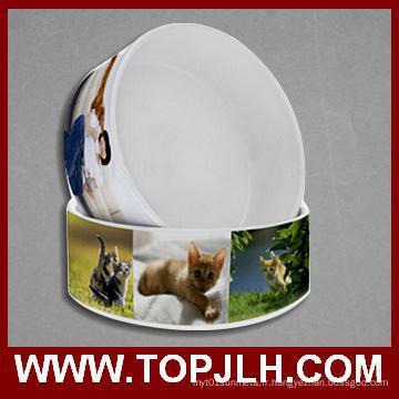 Bol en céramique chien chaleur transfert Sublimation