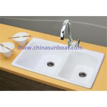 Sunboat Cast Iron Wassertank Küche Double Groove Küche Emaille Sink