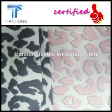 leopard design 100 ctton custom printed flannel fabric for pajamas babywear