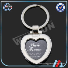 Heart Shaped Photo Keychain