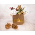 Gold Geschenk Kraftpapier mit Griffen für Hochzeitsgäste Braut Baby Shower Hotel Einkaufen Geburtstag Papiertüte drucken