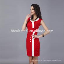2018 vestidos coreanos nova moda vestido formal senhora do escritório vestido formal