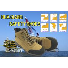 Nouveau Design couche supérieure en cuir Nubuck Safety Shoes chaussures en plein air (HQ09003)