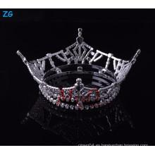 Venta al por mayor Yiwu Zhanggong niñas de cristal accesorios para el cabello completo ronda certamen coronas