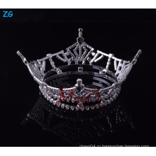 Оптовая Yiwu Zhanggong девочек хрустальные аксессуары для волос полный круглый конкурс короны