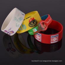 Pulsera de goma de silicona barata personalizada muestra libre