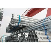 Q195 galvanisé ERW spécification des tuyaux en acier
