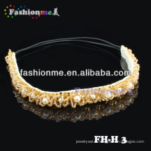FashionMe joli bandeau élastique perlé