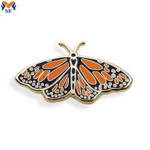 Kundenspezifische Schmetterlingsstift-Brosche mit Schutzträger