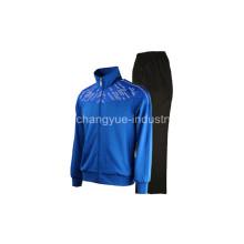 temporada invernal diseñado chaquetas deportivas femeninas y masculinas con tejido de punto