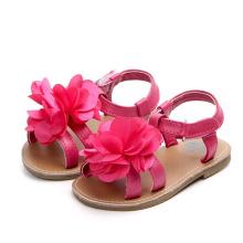 Floral summer dress shoe toddler footwear baby girl shoes fancy sandal