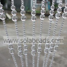 Xmas Decoration 6MM&10MM&12MM&14MM&16MM Wire Crystal Acrylic Beading Garland Trim