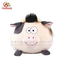 Compra de fábrica de brinquedos de china para porcos de desenhos animados de bebê pelúcia branco e preto