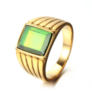 Colorful gemstone women signet wedding ring