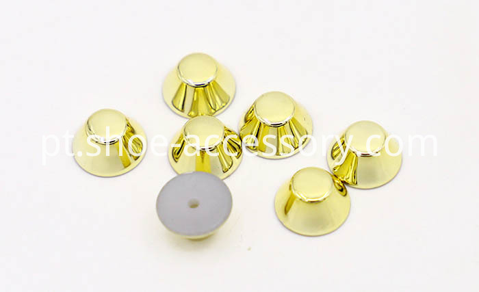 Gold Truncated Cone ABS Studs