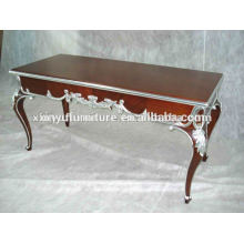 Mesa auxiliar de madera antigua tallada I0002
