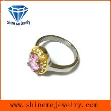Pink Crystal Casting Schnitt CZ Hochzeit Ring