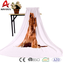 High quality custom pannel screen print plush personalized blanket