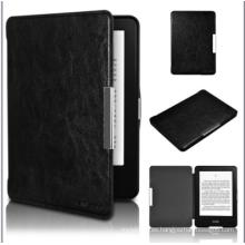 Estuche de cuero Estuche de cuero estilo libro de 6 pulgadas con lector de libros electrónicos para Amazon Kindle Voyage