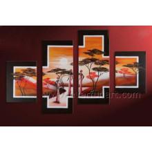 Leinwand Afrikanische Kunst-Malerei für Hauptdekor (AR-147)
