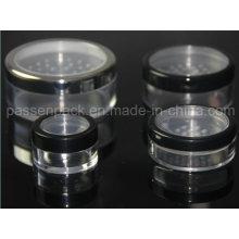 Frasco plástico da embalagem do cosmético para o pó da sombra de olho (PPC-LPJ-016)