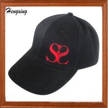 Boné de beisebol de bordado de moda preto