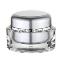 Oval 1oz Transparent Cosmetic Jar