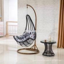 Outdoor garden furniture rattan swing moon hanging chair