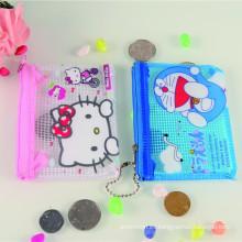 Monedero de cara popular plástico impresos baratos promocionales cat
