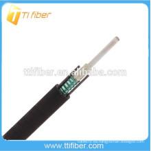 Cable óptico de la fibra de 2-12Core GYXTW, cable accionado fibroso de la fibra de GYXTW